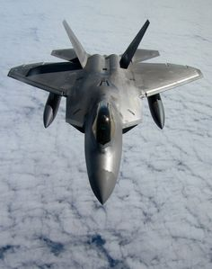 "rhubarbes: "" Lockheed Martin F-22 Raptor. More Airplanes here. """