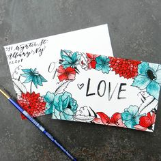 This printable Valentine's Day card and envelope pair are fun, elegant, and great for any holiday!