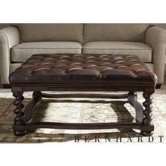 Havertys. Finally a leather ottaman coffee table with.... Cup holders!