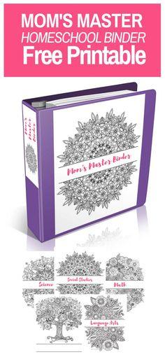 Mom's Master Homeschool Binder Free Printable! Come and grab this amazing homeschool resource today! free printable |