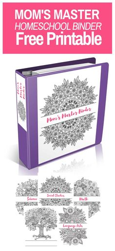 Mom's Master Homeschool Binder Free Printable! Come and grab this amazing homeschool resource today! free printable | homeschool printable | adult coloring | free adult coloring | coloring for adults | coloring for grown ups | free homeschool binder | homeschool organization | homeschool curriculum | homeschool lesson planning | homeschool lesson planner | lesson plans | lesson planning | homeschool mom | homeschool encouragement | homeschool for free | free homeschool resources | free…