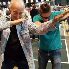 """Thank you @frcteam303 for your submission! """"Our build captain dabing with WOODY Flowers"""" #omgrobots #selfieswithfirst by selfieswithfirst"""