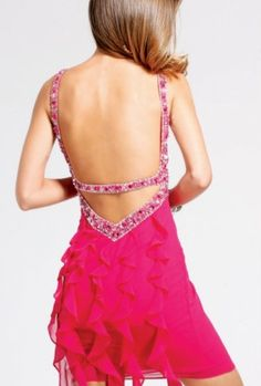 Love the back on this dress from Faviana!