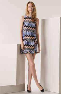 Missoni's Zigzag Print A-Line Jersey Dress.