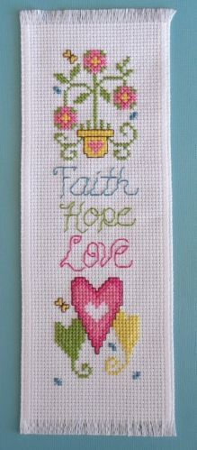 No Pattern.  Just picture.  Cross Stitch Bookmark.