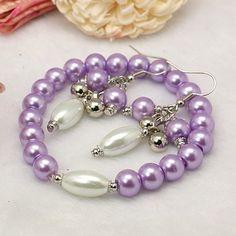 Fashion Glass Pearl Jewelry Set: Earrings and Bracelet.  Do you like them?
