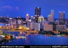Allegheny River Portion of Pittsburgh's Skyline Picture (Pittsburgh, PA) - michaelmccumber.com