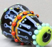 DalekHandmade Lampwork Glass Bead by beadygirlbeads on Etsy, $35.00