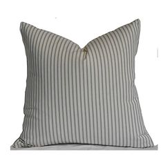 This listing is for 1 pillow cover, inserts are sold separately. We make your covers to fit any size pillow insert. Ask us if you dont see your size and we will add it.  Fabric is a medium weight, screen printed, 100% cotton. Colors include grey and off white. #BedroomDecor Designer Pillow, Designer Throw Pillows, Decorative Throw Pillows, Outdoor Pillow Covers, Throw Pillow Covers, Handmade Pillow Covers, Pillow Cover Design, Pillow Ideas, Sofa Pillows