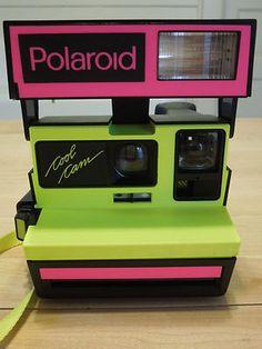 VERY RARE Polaroid Cool Camera Neon Yellow & Pink Color 600 Instant Film Camera on eBay!