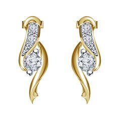 Round CUT White CZ Fancy Stud Earrings