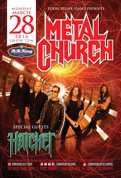 Metal Church & Hatchet (3.28.16)