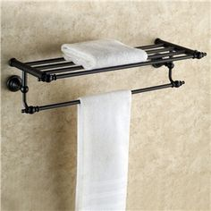 Towel Racks Oil Rubbed Bronze With Shelf