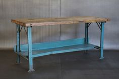 industrial work table from Cleveland Art
