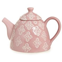 pinkCarolyn Donnelly Eclectic Lace Design Teapot