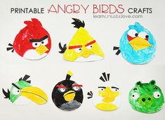 lots of printables as well as craft ideas (this one is Printable Angry Birds Crafts }