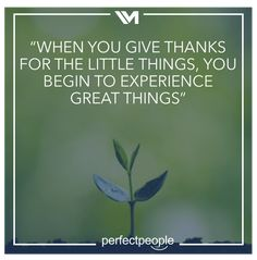 When you give thanks...
