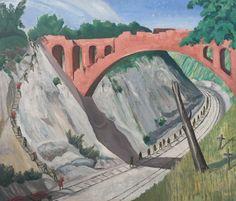 The Bridge over the Arras-Lens Railway, 1919, by John Nash.
