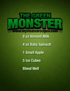 Green Monster ViSalus Shake Recipe from My Visalus Recipes    http://www.myvisalusrecipes.com/green-monster-visalus-shake/