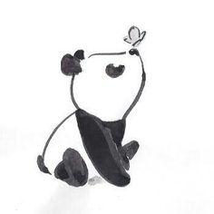 Cute little panda - ideas for drawings - # for . - Cute little panda – ideas for drawings – pie - Disney Art Drawings, Pencil Art Drawings, Art Drawings Sketches, Kawaii Drawings, Easy Drawings, Cute Little Drawings, Couple Drawings, Tattoo Sketches, Cute Panda Drawing