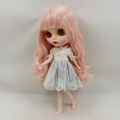 """12/"""" Neo Blythe Doll From Factory Doll Black Double Color Short Hair"""