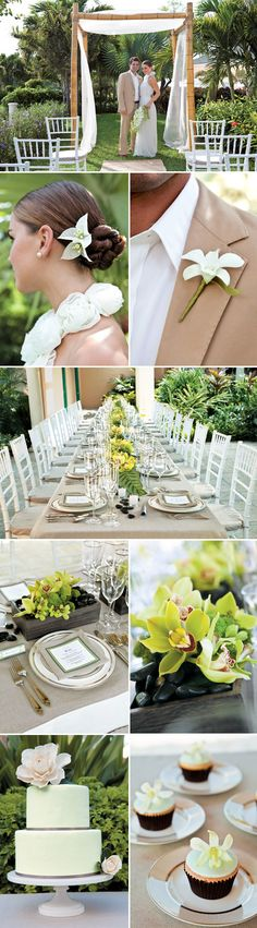 Chic and Natural destination wedding theme - Beaches Resort Turks and Caicos with destination wedding packages from Martha Stewart Weddings