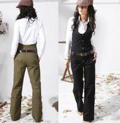 Women-cotton-casual-formal-dress-up-halter-vest-pants