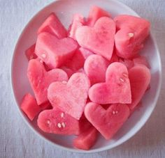 Watermelon heart cutouts