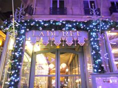 Laduree for Christmas on the Champs Elysees