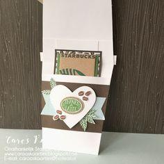 Caro's Kaartjes | Onafhankelijk Stampin' Up! demonstratrice | www.carooskaartjes.blogspot.nl | carooskaartjes@hotmail.nl | Stampin' Up! | Stampin' Up! verkooppunt | Coffee Break Bundle | Coffee Break designer series paper | koffie design papier | Coffee Café stempelset | Coffee Cups framelits stansen | Coffee Café stampset | gift card holder | cadeaukaart houder | cadeaukaart | crafting | knutselen | kaarten maken | cardmaking | stempelen | stamping | creatief | creative | diy| creatief…