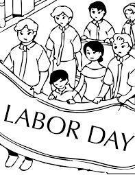 Get ready for Labor Day with this printable coloring page