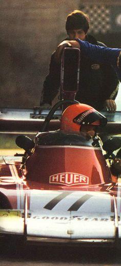 Niki Lauda in the 1974 Ferrari 312 B3