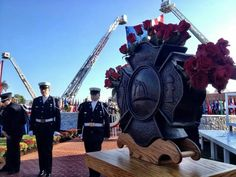 National Fallen Firefighters Memorial Firefighter Paramedic, Firefighter Pictures, Honor Guard, Firemen, Memorial Park, Fire Apparatus, Firefighting, Usmc, Statues