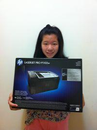 HP LJ P1102w 無線雷射黑迷你黑白印表機,得標價格128元,最後贏家黃小玉:很高興可以得標 HP LJ P1102w 無線雷射黑迷你黑白印表機, 感謝快標網與各位標友 !