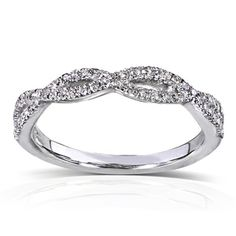 @Overstock.com - Annello 14k White Gold 1/6 ct TDW Braided Diamond Band (H-I, I1-I2) - Round-cut diamond band14-karat white gold jewelry Click here for ring sizing guide  http://www.overstock.com/Jewelry-Watches/Annello-14k-White-Gold-1-6-ct-TDW-Braided-Diamond-Band-H-I-I1-I2/7894417/product.html?CID=214117 $311.99