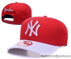 MLB Baseball Caps New York Yanees Curved Brim Hats Red/White