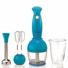 Morphy Richards Compliments Hand Blender Set - Cyan Blue
