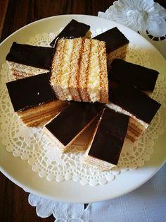 Hungarian Desserts, Hungarian Cake, Hungarian Recipes, Salty Snacks, Sweet Desserts, Winter Food, Christmas Baking, No Bake Cake, Vanilla Cake