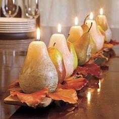 100 Fall Decorating Ideas! Fruits Decoration, Decoration Table, Centerpiece Ideas, Autumn Centerpieces, Centrepieces, Table Centerpieces, Thanksgiving Decorations, Holiday Decor, Fall Table