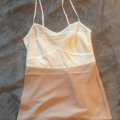 All Saints blocked cami in dusk/chalk Color blocked cami with side zip. U.S. Size 4 All Saints Tops Camisoles