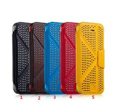 Polka Dot style Flip Leather Protective Shell Case Cover shell with stand function for APPLE IPHONE5C