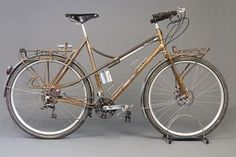 I know bicycles aren't steampunk per say, but.... Mixte Off Road Touring Bike by Ahearne Cycles on Flickr.