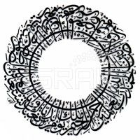 Surah Alfatihah in Thuluth Circle
