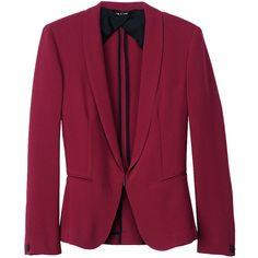 Sliver Tuxedo ($250) ❤ liked on Polyvore featuring outerwear, jackets, blazers, coats, tops, blazer jacket, tuxedo blazer, rag bone jacket, dinner suit and rag bone blazer