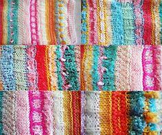 Neuletta jämälangoista. Knitting leftover yarns.