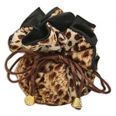 Store your small jewelry such as rings, earrings, bracelets in this cinch pouch. There are 8 small compartments and 1 large compartments for your various sized jewelry. The pouch is compact and great for travel. Jewellery Display, Jewelry Shop, Jewelry Stores, Cinch Bag, Tote Organization, Leopard Animal, Like Animals, Purse Styles, Walk On