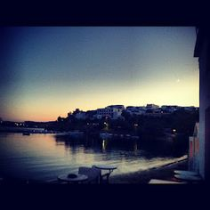 The moon just made its entrance in Piso Livadi, Paros Mykonos, Santorini, Short Cruises, Paros Island, Places Worth Visiting, Windsurfing, The Locals, The Good Place
