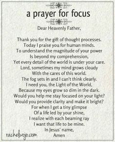Whether your struggle is due to stress, anxiety, or sleep deprivation, this prayer for focus will help! Prayers and how to pray Prayer Times, Prayer Scriptures, Bible Prayers, Faith Prayer, Prayer Quotes, Spiritual Quotes, Bible Quotes, Bible Verses, Spiritual Prayers