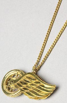 $90 #redwings The Wing Necklace in Brass by Monserat Delucca Jewelry - Use repcode SMARTCANUCKS for 20% off on #karmaloop - http://www.lovekarmaloop.com
