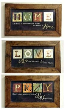 custom barnwood frames print off 3 pack love pray home frame